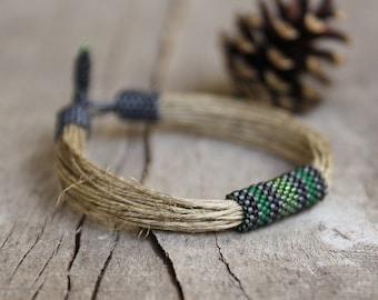 Bracelet for Men, Masculine Bracelet, Green Bracelet Man, Eco Mens Accessories, Unique handmade bracelet, Trending Men, Boyfriend Gift