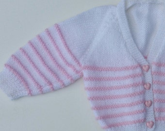 Knitted Baby Button Up Cardigan