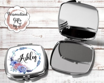 Bridesmaid Gift, Compact Mirror, Pocket Mirror, Makeup Mirror, Gift for her, custom mirror, Bridal Party Gift BOHO hb5