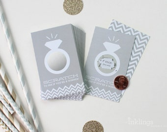 SALE! 24 Scratch Off Cards for Bridal Shower or Bachelorette Game // Platinum Grey