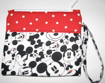 Disney Mickey Mouse Wristlet Custom Made Embroidere