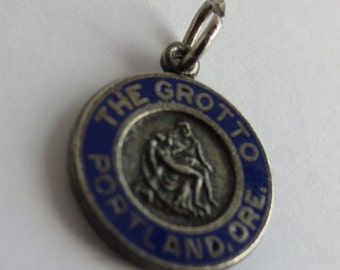 THE GROTTO PORTLAND  Oregon - Sterling Silver and Enamel Charm or Pendant