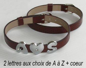 Bracelet letter first name initial