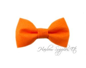 Orange Fabric Bows 2.5 inch - Embellishment - Hair Bows, Bow Tie, Fabric Bows, Bows For Girls, Bow For Hair, Hair Bows For Babies