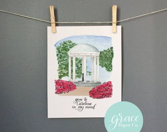 The Old Well, UNC Chapel Hill Fine Art Print