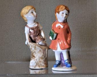 Boy and Girl Figurines Vintage