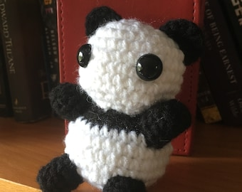 Mini Panda Bear Amigurumi Stuffed Doll / MADE TO ORDER