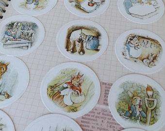 Peter Rabbit Stickers, Peter rabbit Label, Beatrix Potter sticker, Beatrix Potter label