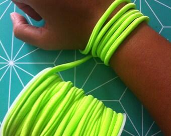 1 meter cord spaghetti green neon 5mm in diameter