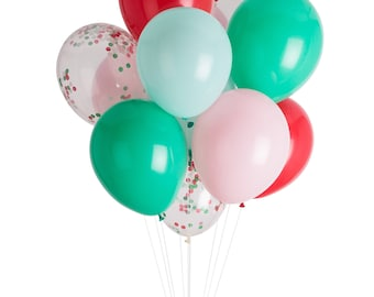 Christmas Balloons, Holiday Party Balloons, Kids Christmas Party Decor, Hot Chocolate Party, Cookie Decorating Party