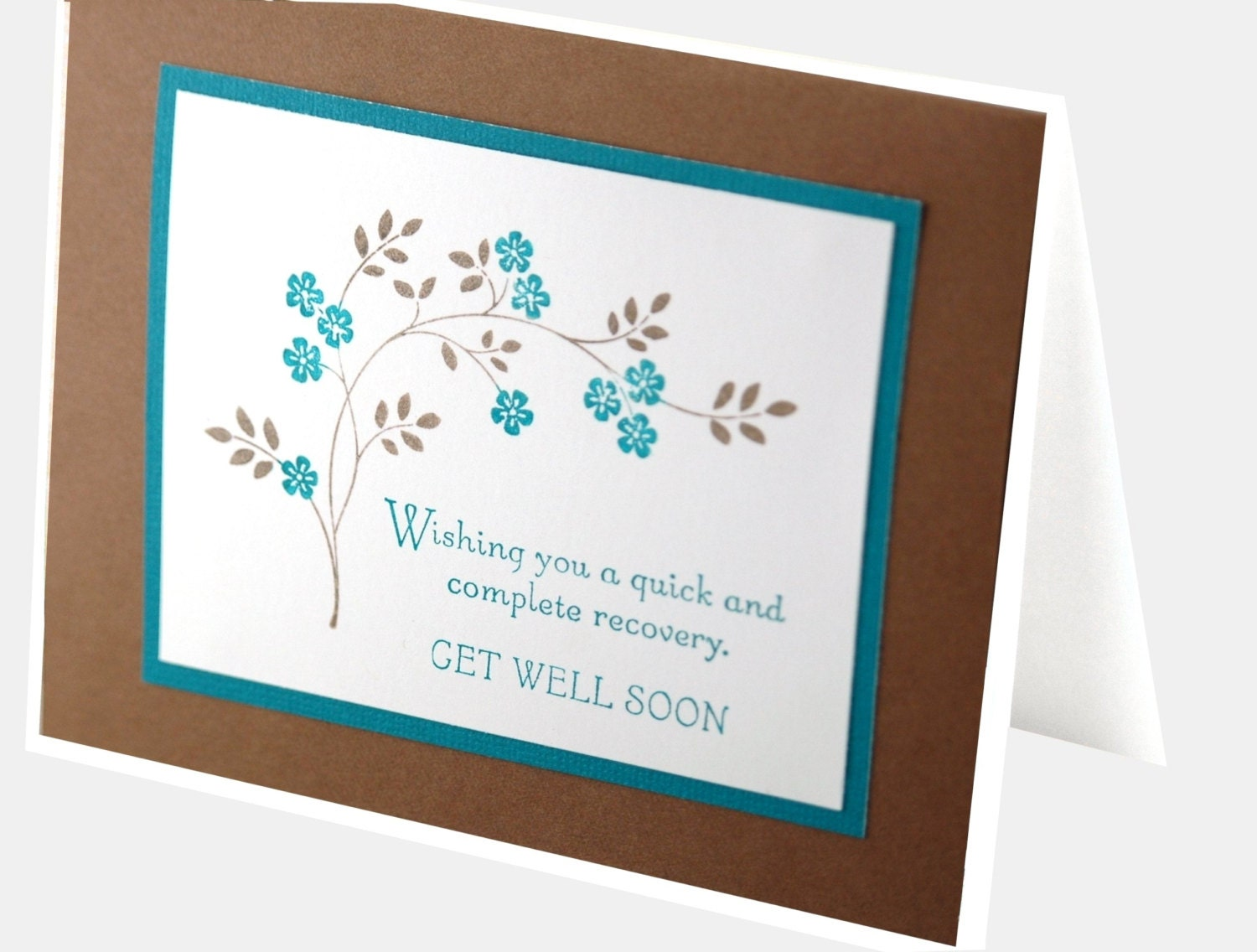 Handmade get well soon card sympathy card praying for you zoom kristyandbryce Choice Image