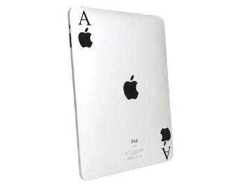 Ace iPad Decal sticker. choose your size.
