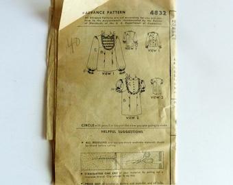 Advance Vintage Pattern 4832 Women's Yoke Front Blouse 1948