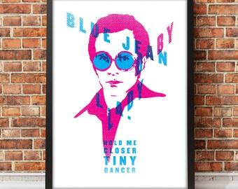 Elton John Tiny Dancer Inspired Music Art Print