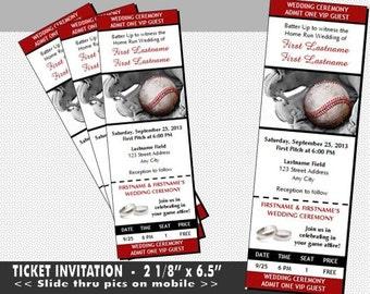 Baseball Wedding Invitations printable baseball cards