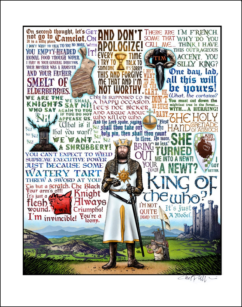 King Of The Who Monty Python & The Holy Grail Tribute Signed