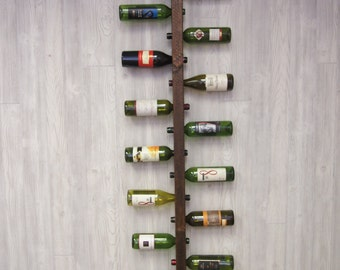 Wine Rack 16 Bottle Ladder, wine rack wood, wine rack, wine rack wall mounted, dining room wall decor, kitchen wine decor, housewarming gift