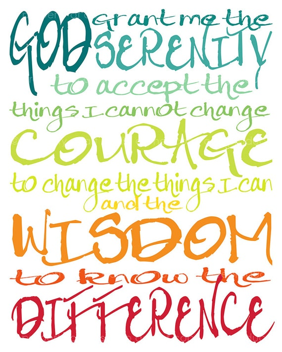 Items Similar To Serenity Prayer Quote 8x10 Or 8x8 Canvas Textured