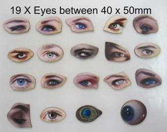 Eyes, Eyes and more Eyes. A pack of 19 x Laser cutouts
