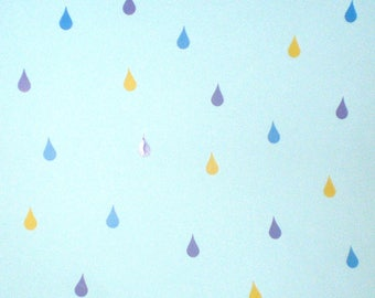 Vinyl  raindrops wall decals/nursery decor/ wall stickers for kids/vinyl stickers for bedroom walls