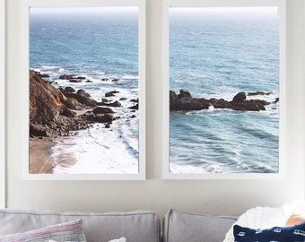 California West Coast Waves Photo Set Digital Download Instant Download Beach Photography Print