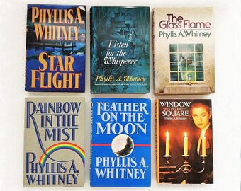 Six Vintage Phyllis Whitney Novels (Romantic Mystery), Hardbound (Hardcover or Hardback) Books with Dust Jackets, in Great Condition