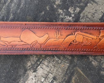 Personalized Leather Belt / Cowboy / Western belt