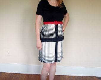 CLEARANCE 70s 80s Crosshatch Dress M