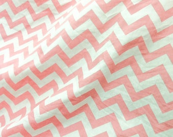 Quilt Cotton Fabric Retro Scandinavian Zigzag Pink Fat Quarter Half Yard or Yard