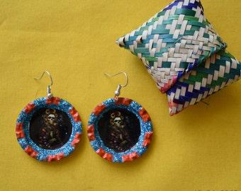 Dia de los muertos earrings, skull earrings, Day of the dead earrings, calavera earrings