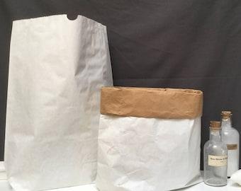 Paperbag kraft - Plain white - MEDIUM SIZE
