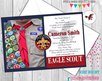 Eagle Scout party invitations