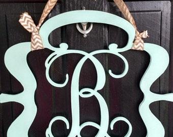 Wood Mongogram Door Hanger