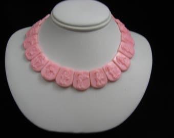 Vintage West Germany Child's Pink Necklace / Choker Doll Necklace