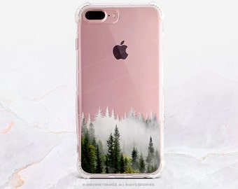 iPhone 8 Case iPhone X Case iPhone 7 Case Forest Fog Clear GRIP Rubber Case iPhone 7 Plus Clear Case iPhone SE Case Samsung S8 Case U112