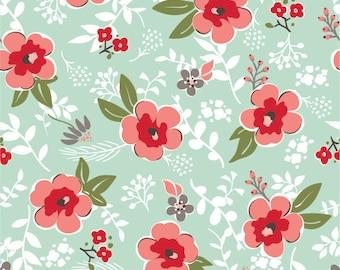 Sweet Prairie Fabric -  Main in Mint - fat quarter / yardage