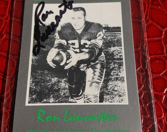 Ron Lancaster signed 1991 card
