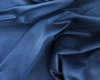 Silk blend iridescent blue/black fabric