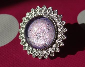 Purple Galaxy Adjustable Ring
