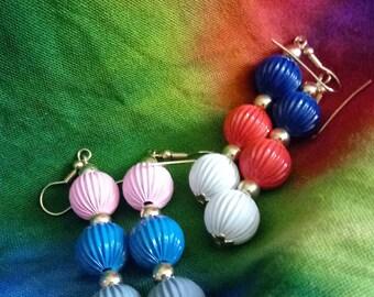 1980s Ball Earrings-Lot of 2