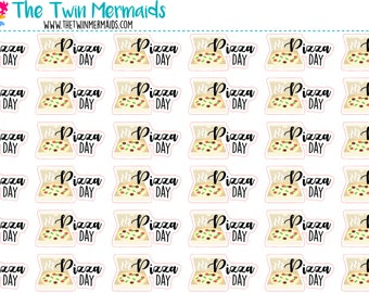 Pizza Day Planner Stickers