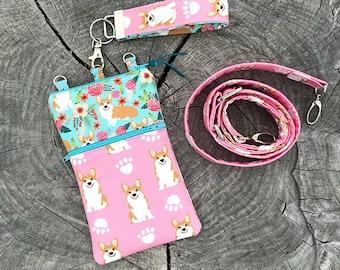 Dog Phone Case, Cat Phone Case, Dog Print Phone Case, Dog Wallet, Phone Case Wristlet, CrossBody Phone Case, Phone Wallet, Phone Sleeve