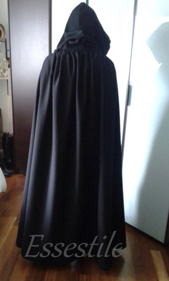 Grey/black Hooded Cloak 125718 j11r2BiQDu