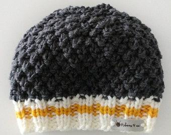 Quilt bottom yellow wool hat