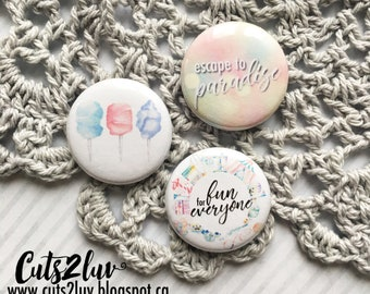"3 buttons 1 ""Escape to paradise"
