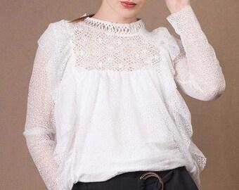 Ruffled Lace Blouse