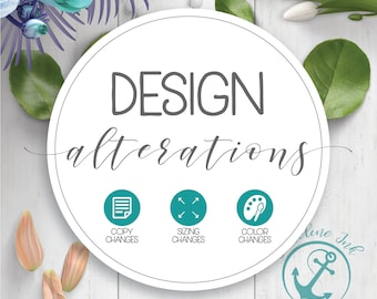 Design Alterations | Minor Changes |