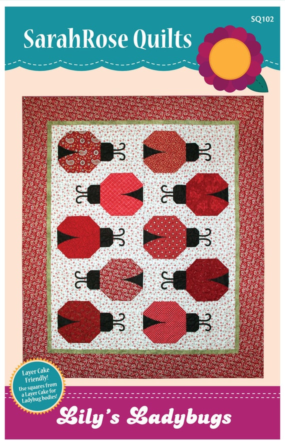 Lily S Ladybugs Ladybug Quilt Pattern Machine Applique
