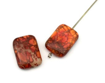 2 aqua terra jasper stone beads 13mm x 18mm #PP333-1