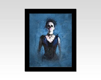 Penny Dreadful inspired Vanessa Ives grunge gothic effect print